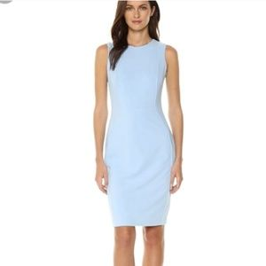 Calvin Klein Pale Blue Sleeveless Zip Up Dress